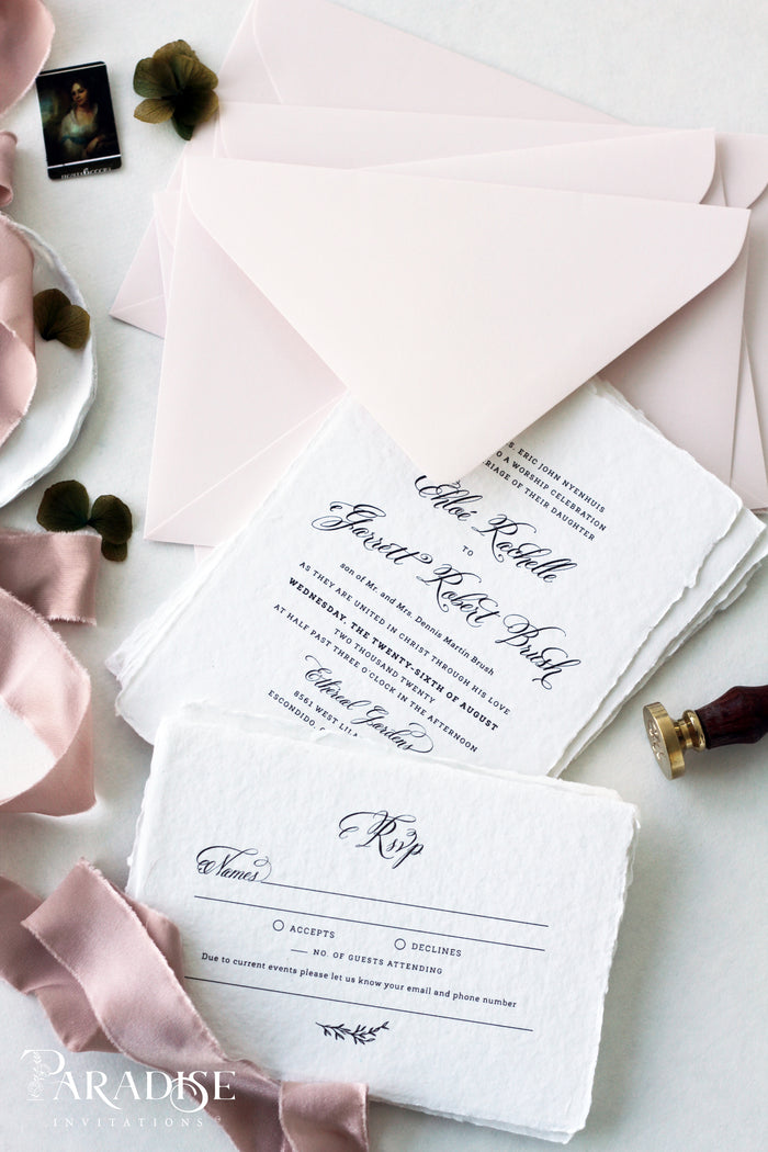 Charlayne Handmade Paper Wedding Invitation Sets