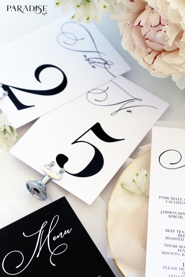 Elvia Elegant Table Numbers