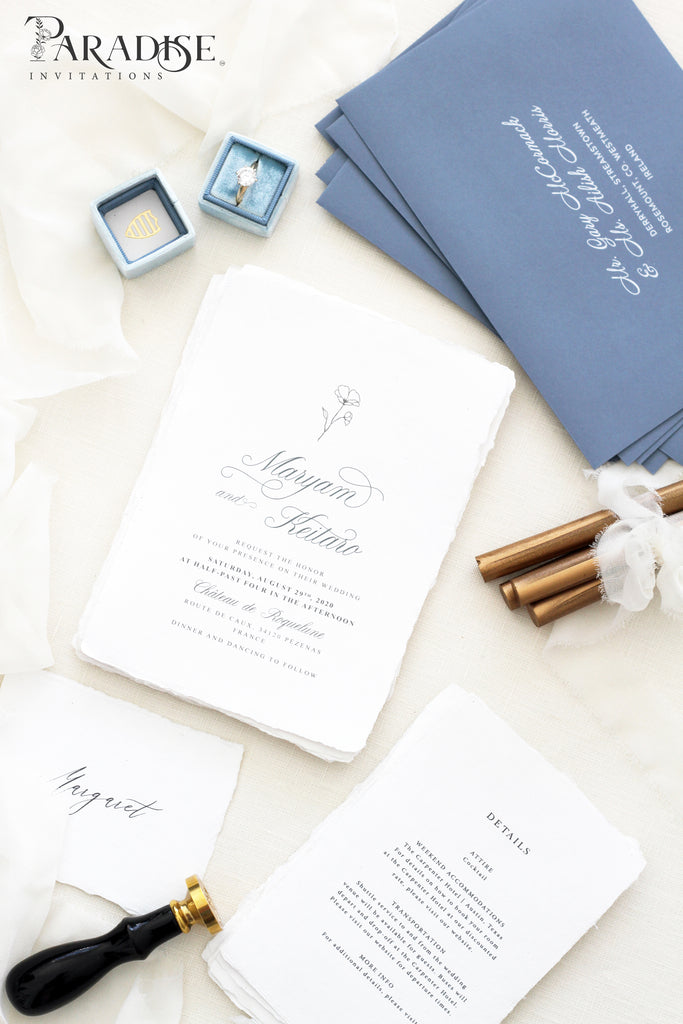 Christiane Handmade Paper Wedding Invitation