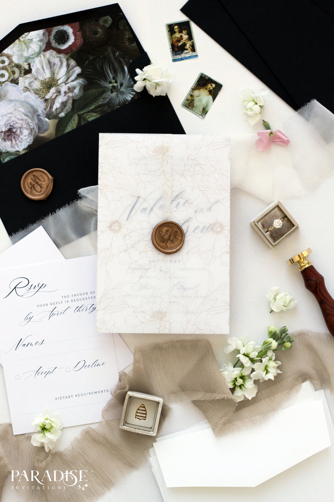 Felicienne Modern Calligraphy Wedding Invitations