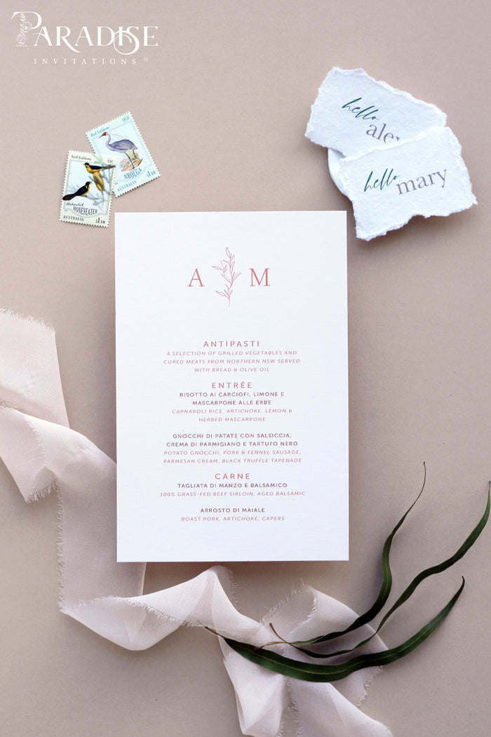 Marguerite Wedding Menus