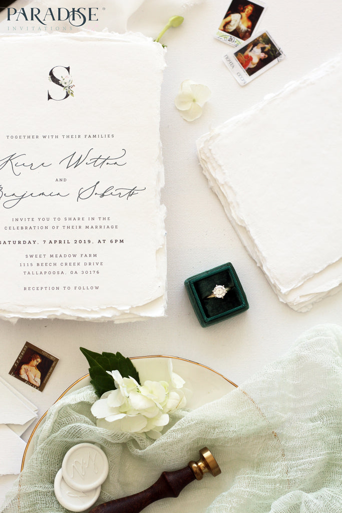 Jaqueline Handmade Paper Wedding Invitation