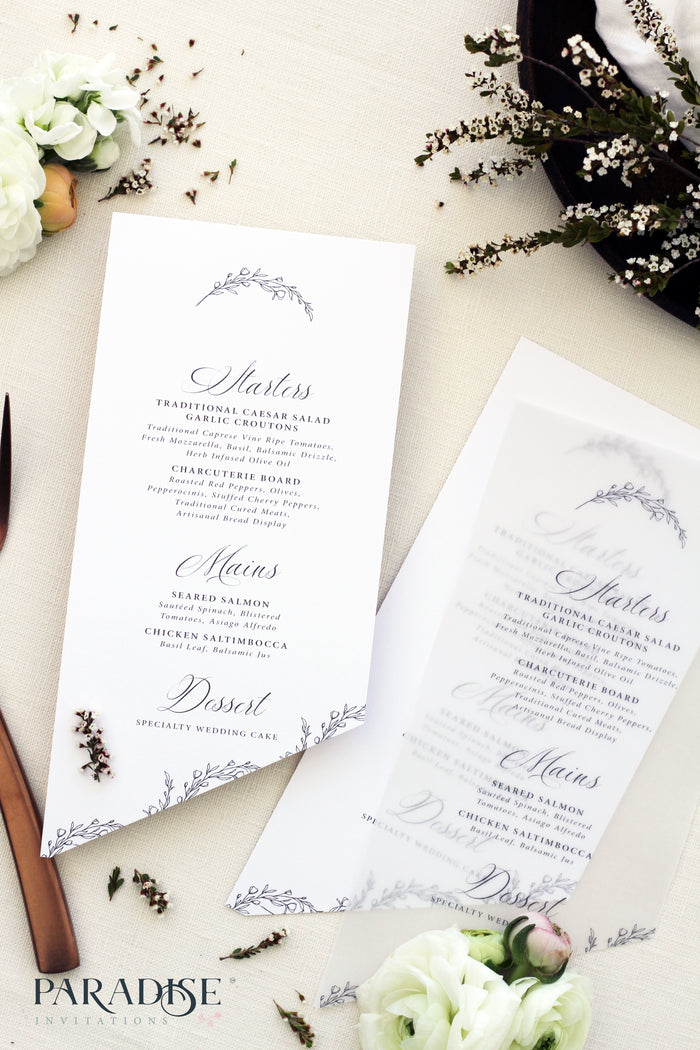 Rosalyn Bohemian Wedding Menus