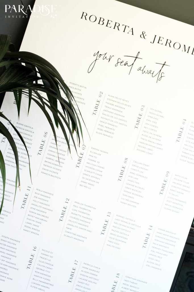 Halette Modern Table Seating Chart