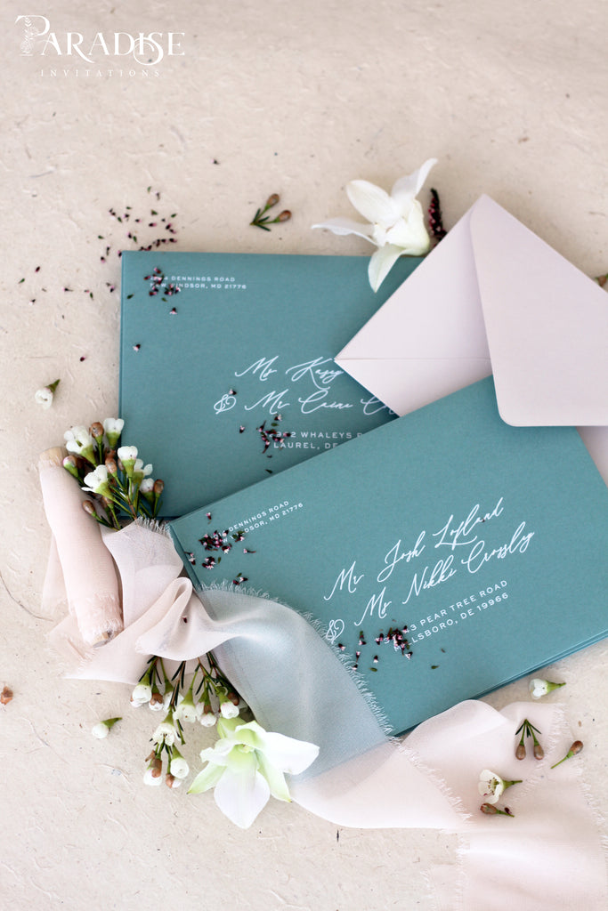 Sage Envelopes White Ink Printing