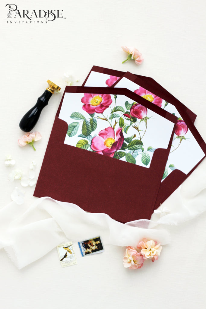Watercolor Floral Envelope Liners