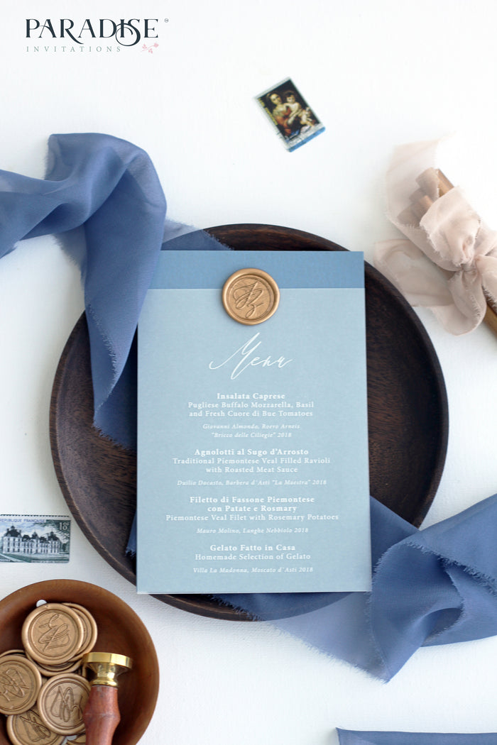 Agate Vellum Wedding Menu