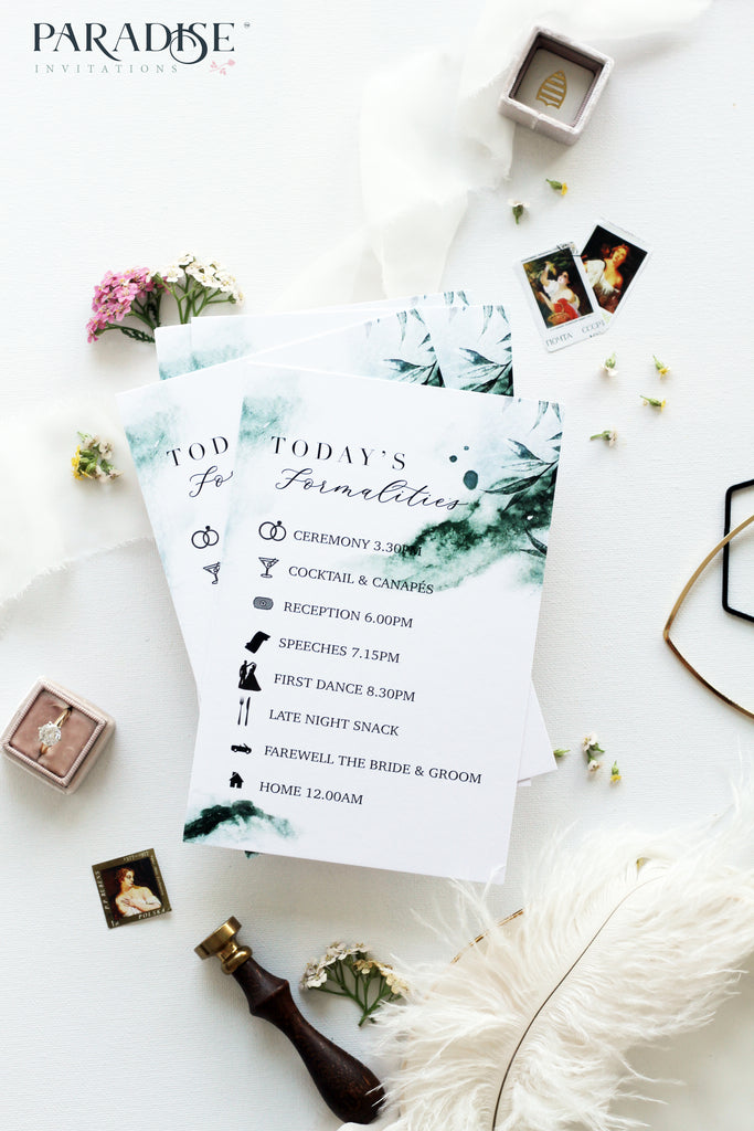 Cordelia Watercolor Wedding Program