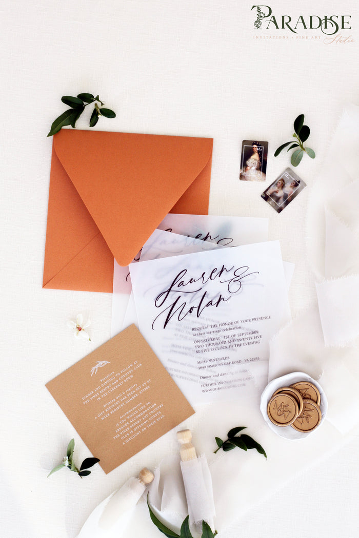 Fidelity Vellum Wedding Invitation Sets