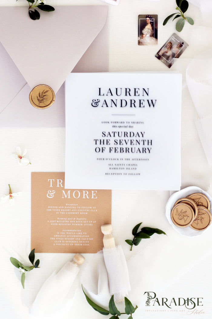 Giovanna Vellum Wedding Invitation Sets