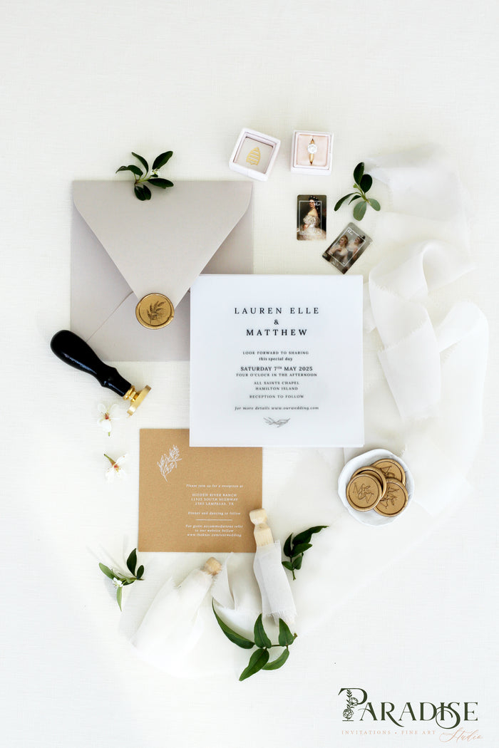 Guinevere Vellum Wedding Invitation Sets
