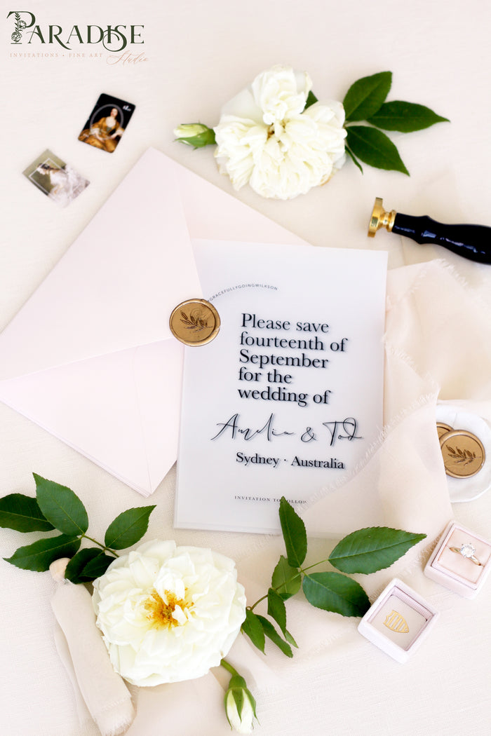 Addilyn Vellum Save the Date Cards
