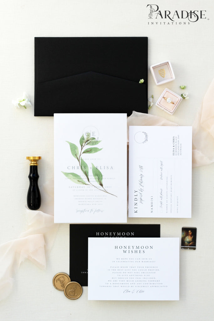 Helene Monogram Wedding Invitation Sets