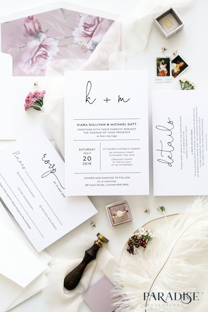 Helenor Floral Blush Wedding Invitation