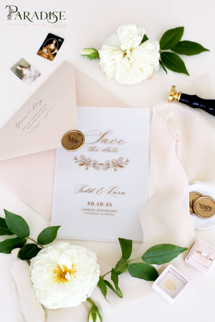 Alisa Vellum Save the Date Cards