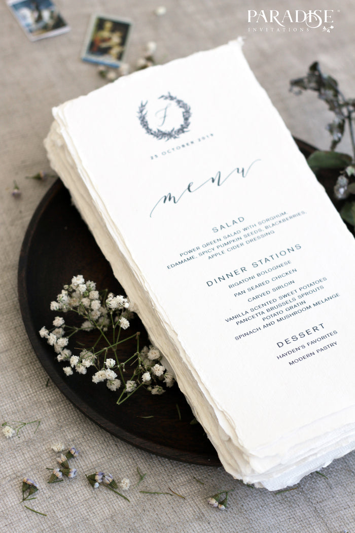 Devonne Monogram Wedding Menus