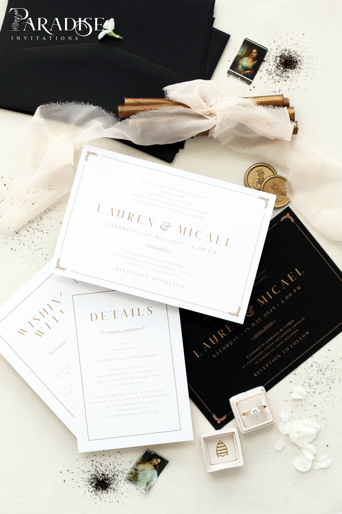 Cyrille Elegant Wedding Invitation Sets