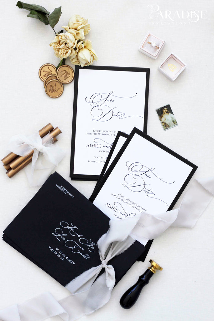 Ancelina Save the date cards
