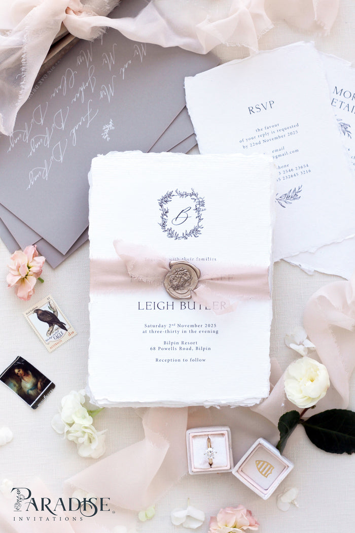 Carolina Handmade Paper Wedding Invitation Sets