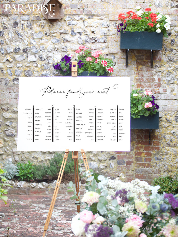 Elegant Modern Table Seating Chart
