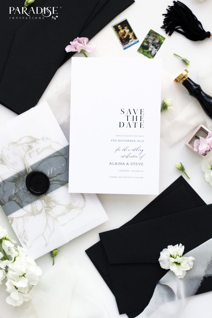 Gabrielle Modern Calligraphy Save the Date