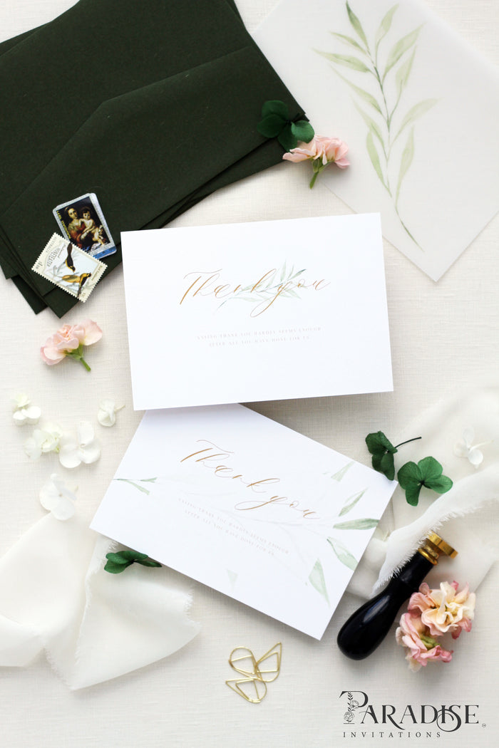 Leonie Elegant Thank You Card