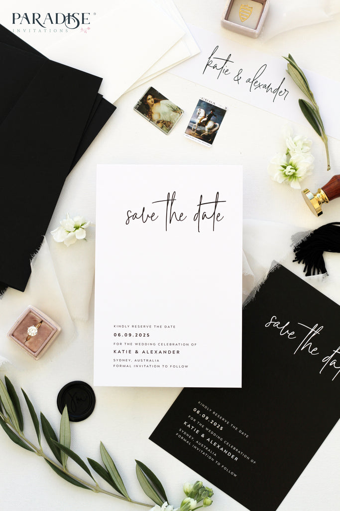 Lucrèce Elegant Calligraphy Save the Date