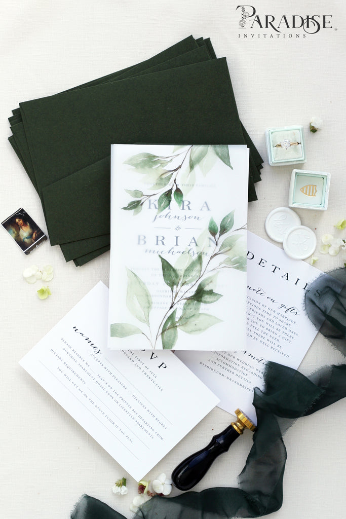 Patrice Foliage Wedding Invitation Sets