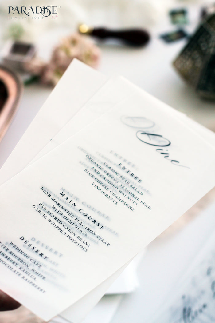 Léonore Vellum Wedding Menu