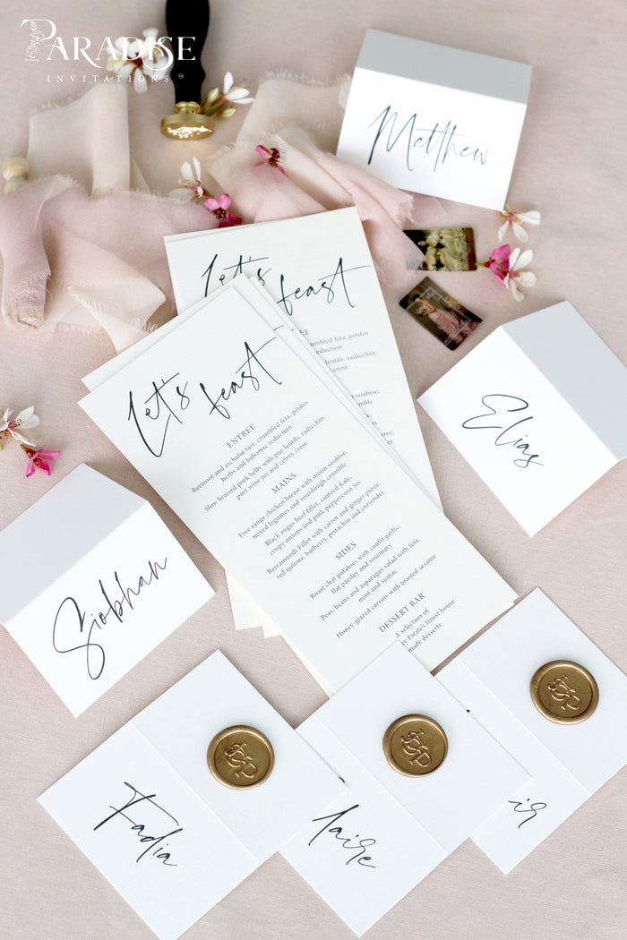 Megan Calligraphy Wedding Menus