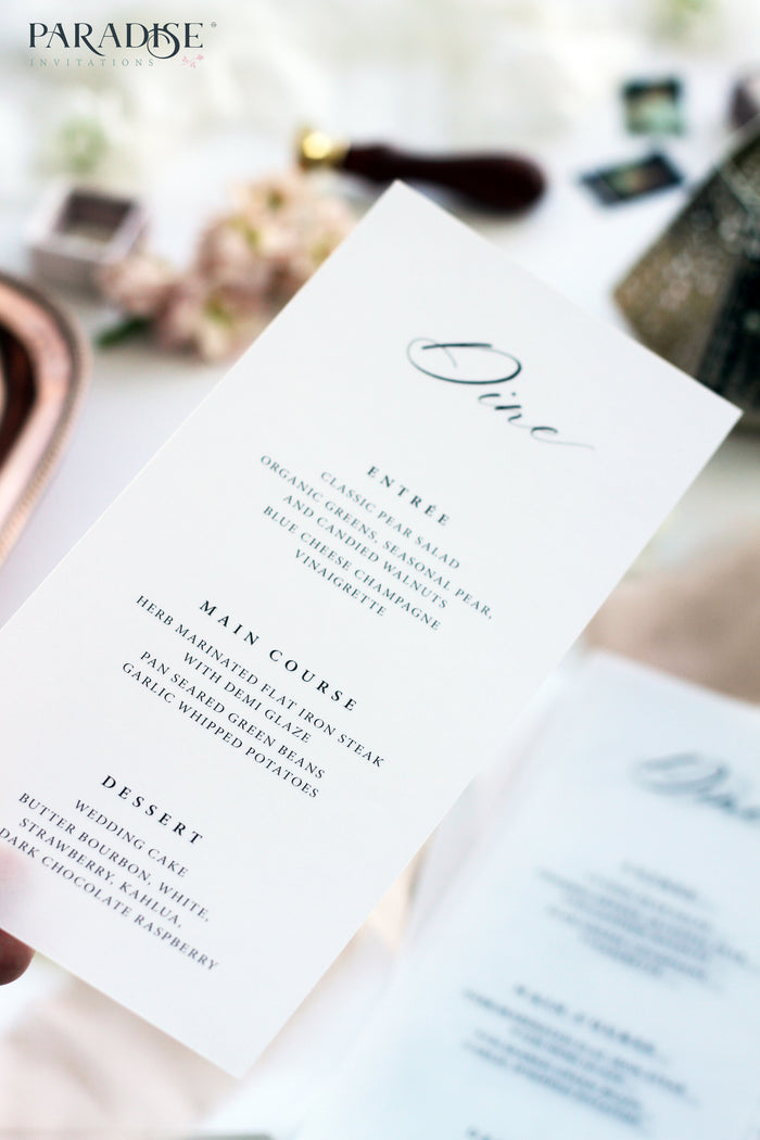 Maïlys Vellum Wedding Menu