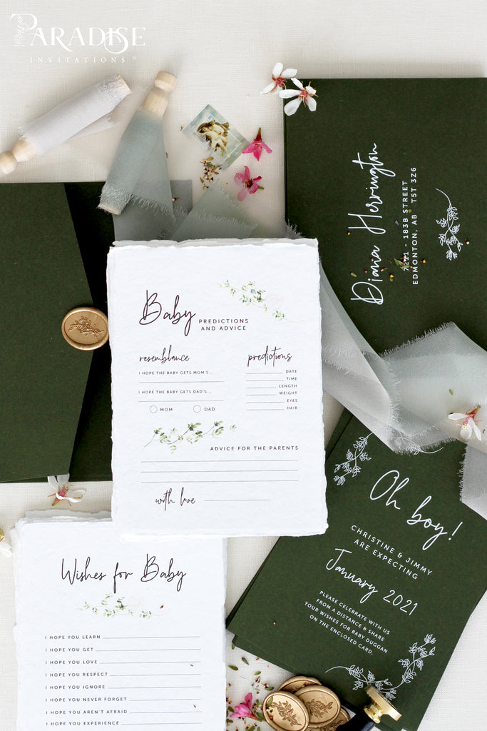 Megan Birth announcements, Digital or Printed Baby Announcement, Thank you Baby Card