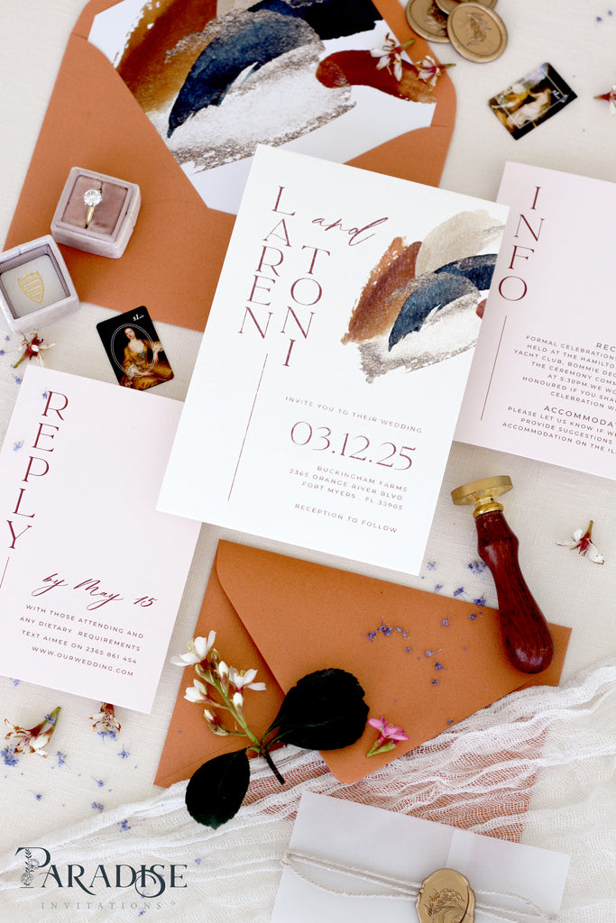 Lavinia Bohemian Wedding Invitation Sets