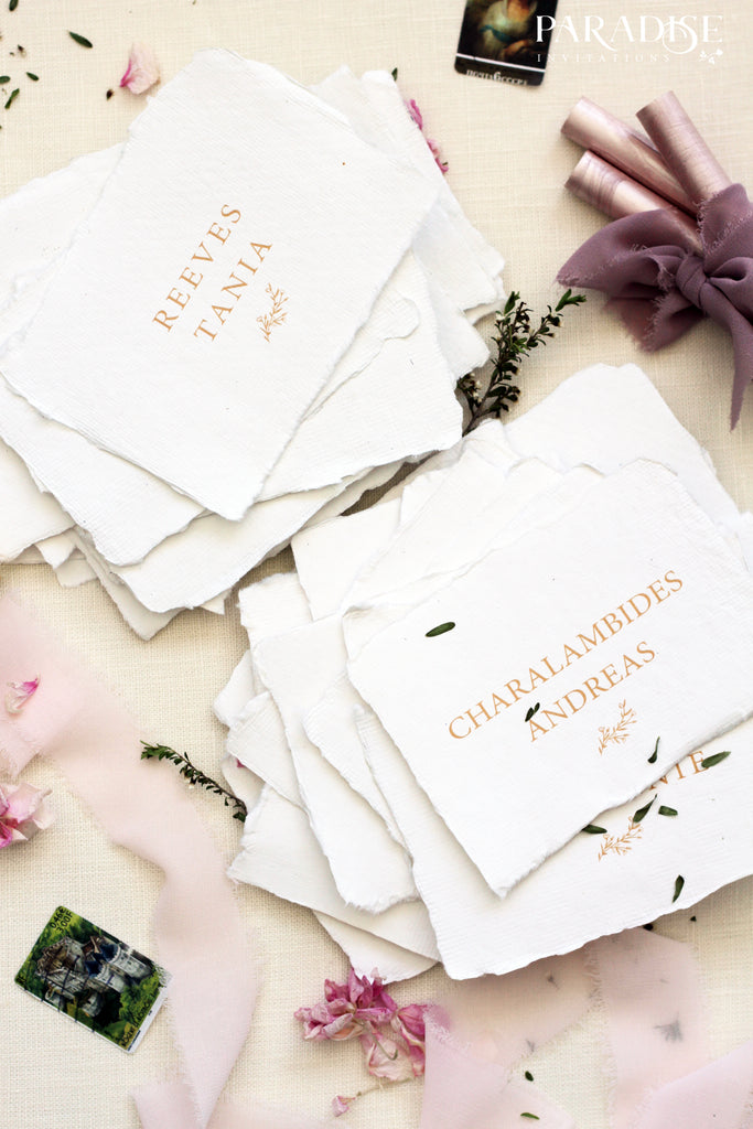 Vicky Handmade Paper Place Cards