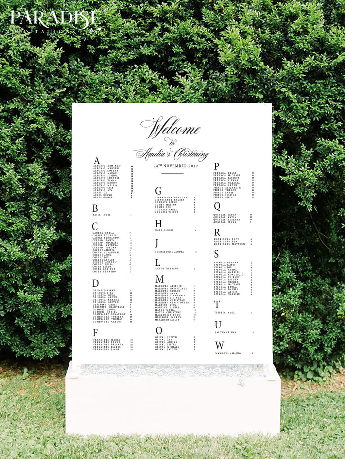Nicole Elegant Table Seating Chart
