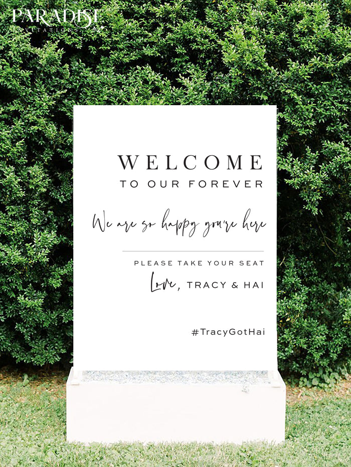 Eglantina Wedding Welcome Sign