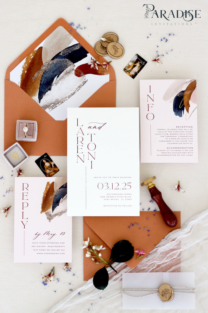 Lavinia Bohemian 2 Wedding Invitation Sets