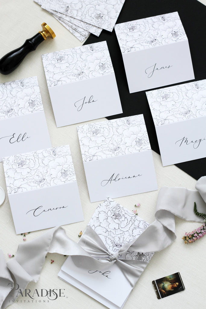 Marje Elegant Calligraphy Place Cards