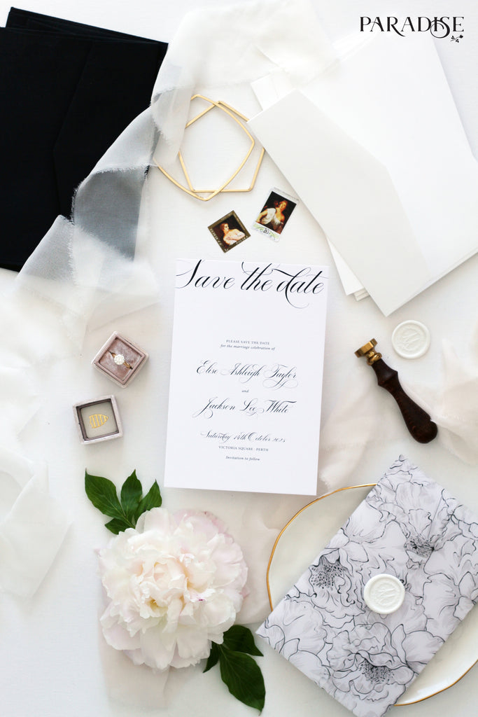 Obeline Elegant Calligraphy Save the Date