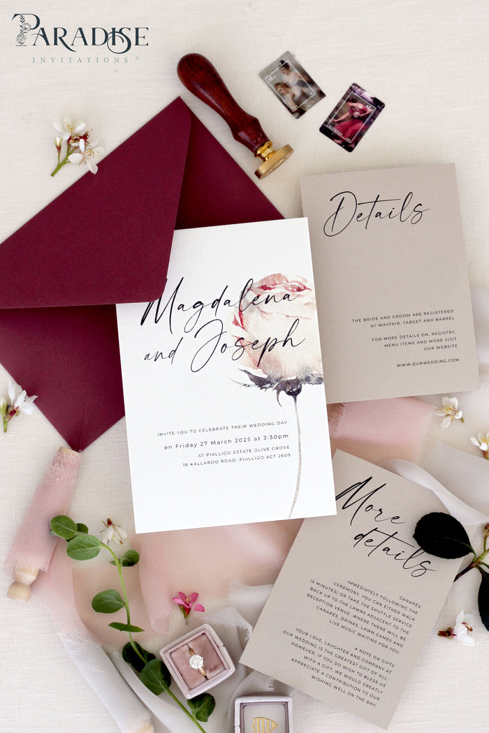 Phoebe Floral Wedding Invitation Sets