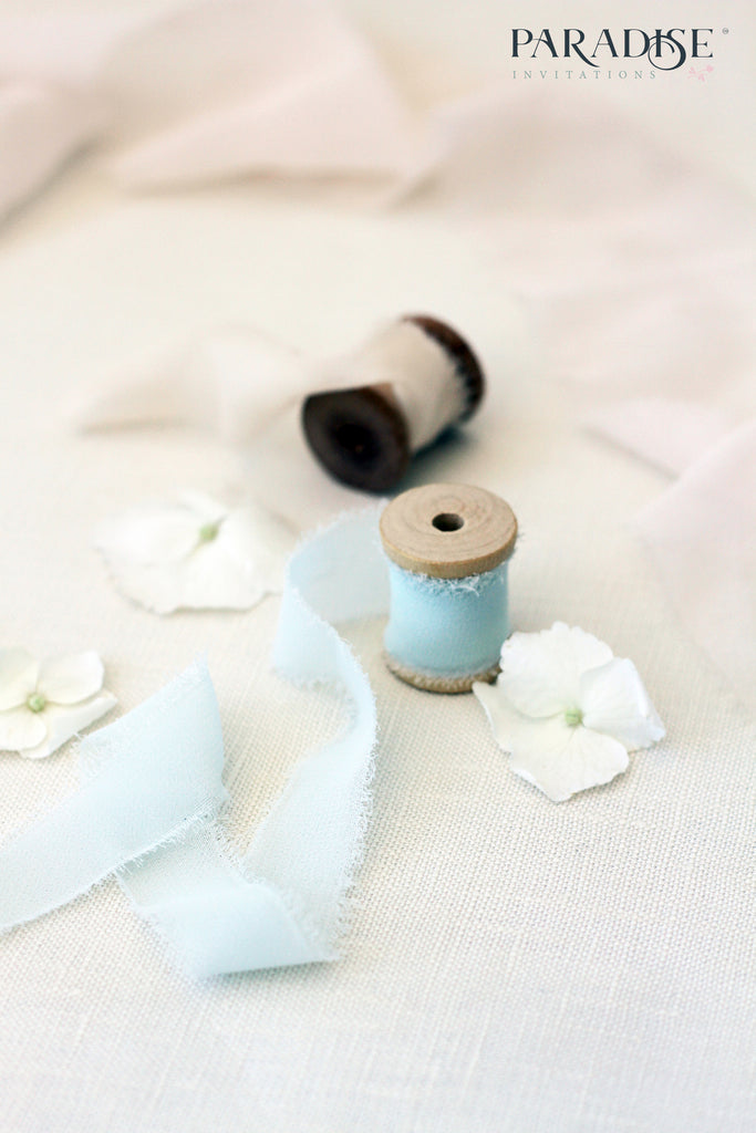 Elegant Sky Blue Silk ribbon 10006