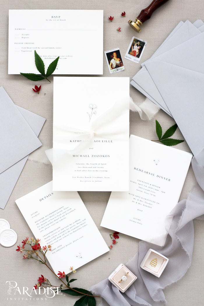 Alexandrine Elegant Wedding Invitation