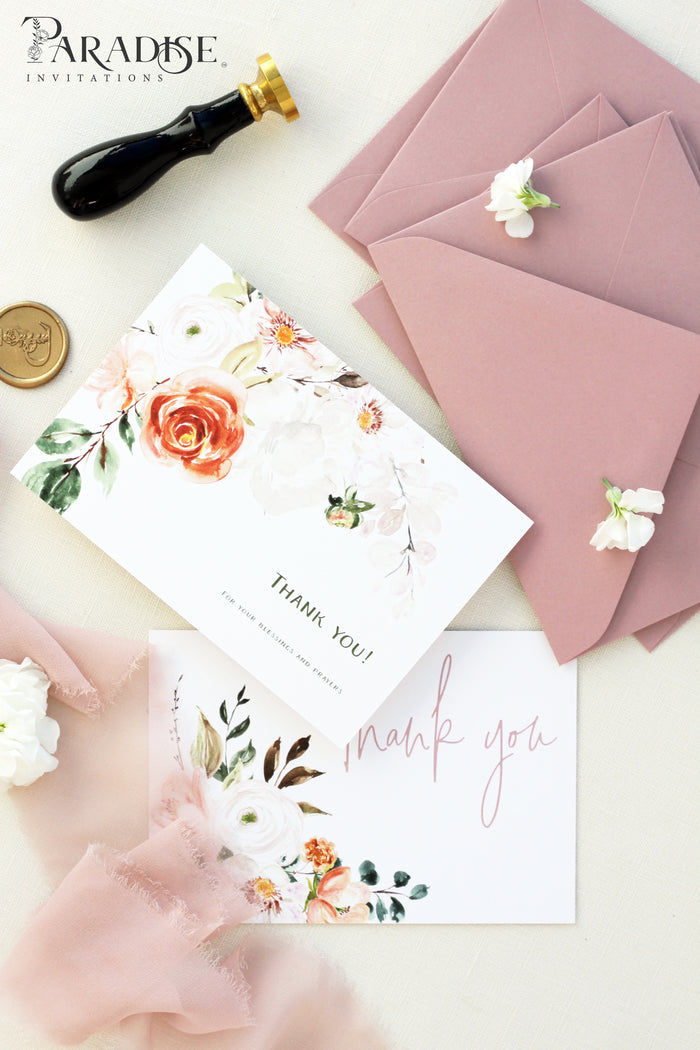 Adelaide Watercolor Floral Thank You Card