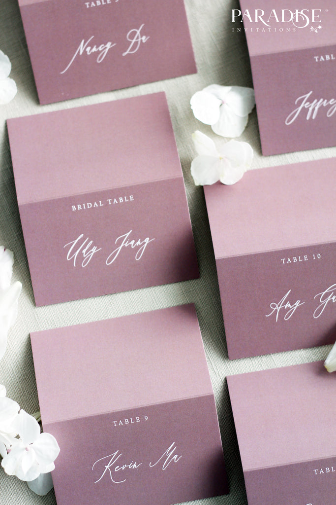 Schannel Dusty Pink Place Cards