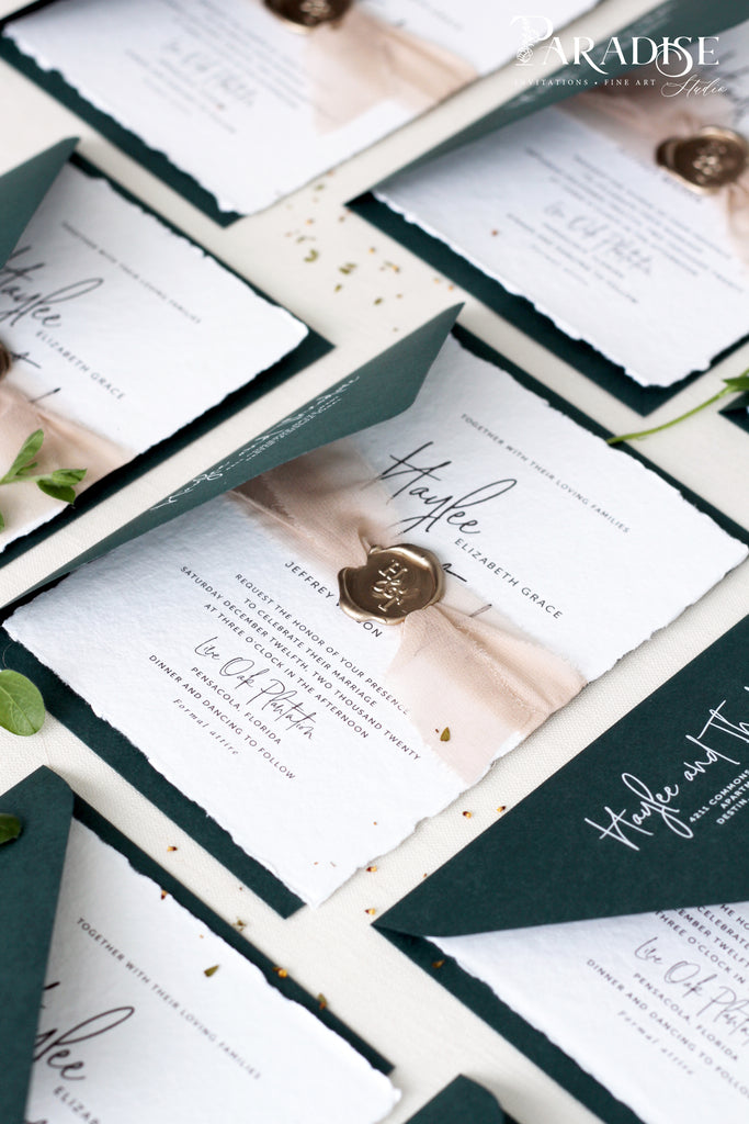 Bexley Handmade Paper Wedding Invitation Sets