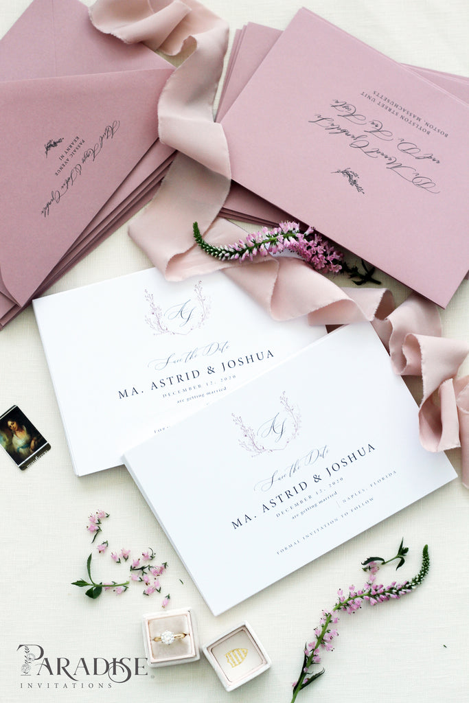 Wild Rose Envelopes black ink printing
