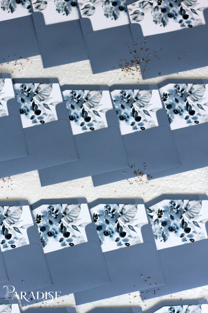 Dusty Blue Floral Envelope Liners