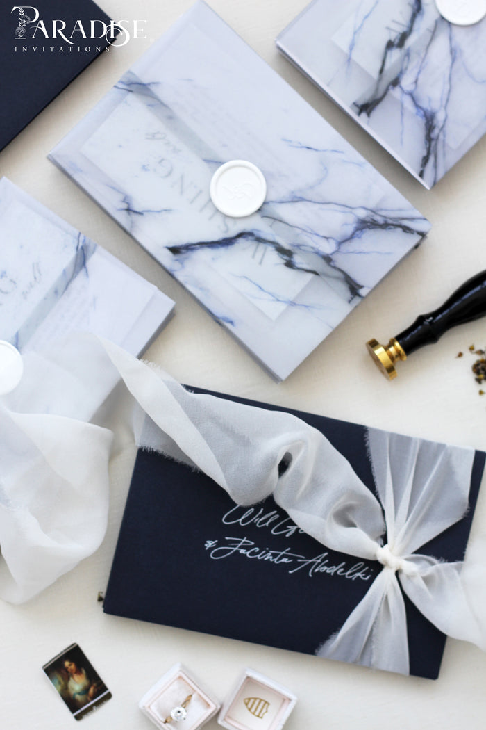 Sydell Marble Wedding Invitations