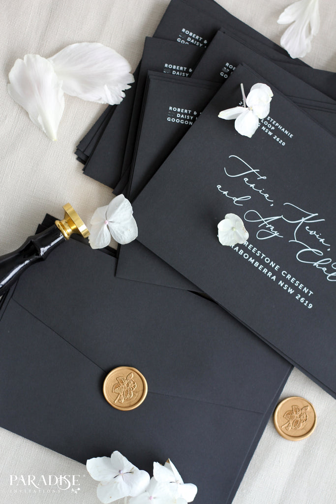 Floral Luxury Monogram Wax Seals