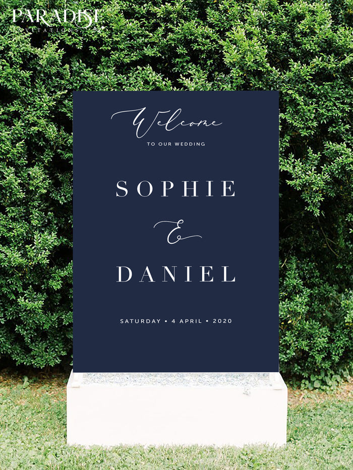 Dorothee Wedding Welcome Sign
